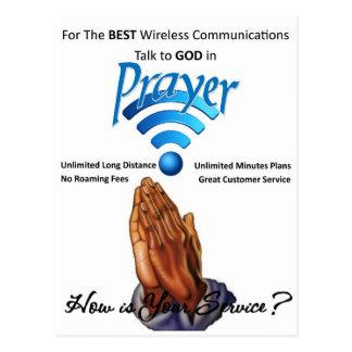 Gebet: Drahtlose Kommunikation Postkarte