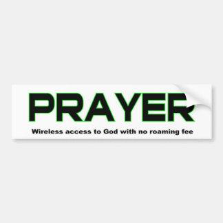 Gebet, drahtloser Zugang zum christlichen Geschenk Autoaufkleber