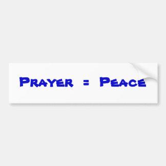 Gebet = Frieden Autoaufkleber
