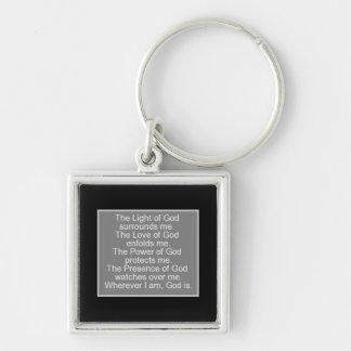 Gebet für Schutz Schlüsselanhänger