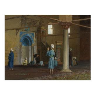 Gebet in der Moschee durch Jean-Leon Gerome Postkarte