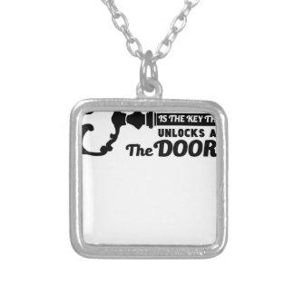Gebet ist der Schlüssel zu allen Türen Versilberte Kette