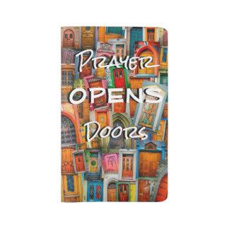 Gebet öffnet Tür-große Gebets-Zeitschrift Großes Moleskine Notizbuch