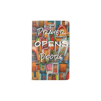 Gebet öffnet Tür-Taschen-Gebets-Zeitschrift Moleskine Taschennotizbuch