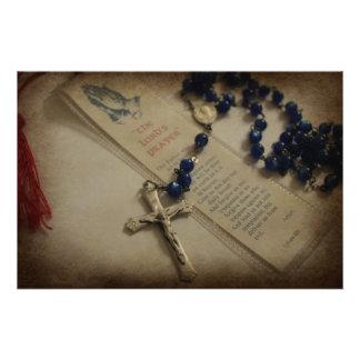 Gebet und Rosenbeet Fotodruck