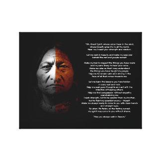 """Gebet zum großen Geist, """"Sitting Bull"""" Zitat Leinwanddruck"""