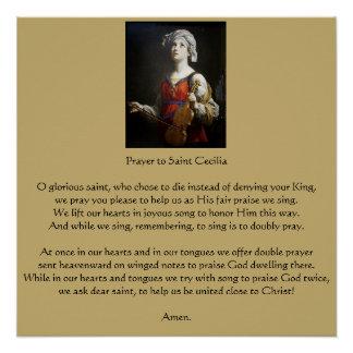 Gebet zum Heiligen Cecilia Poster