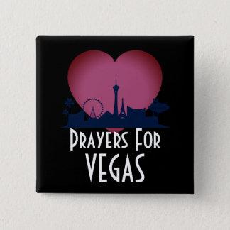 Gebete für Las Vegas Quadratischer Button 5,1 Cm