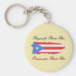 Gebete für Puerto Rico Schlüsselanhänger