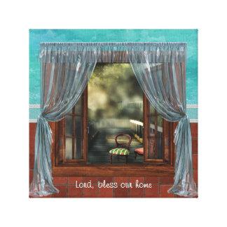Gebets-Fenster Leinwanddruck