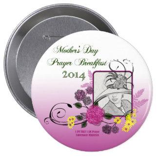 Gebets-Frühstücks-Knopf der Mutter Tages Runder Button 10,2 Cm