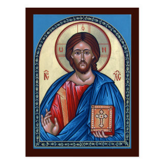 Gebets-Karte Christus Pantocrator Postkarte