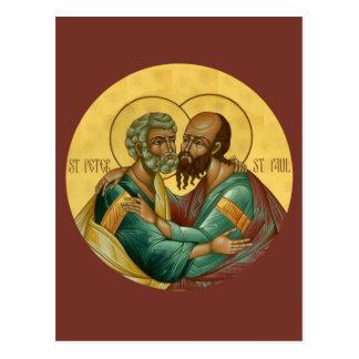 Gebets-Karte Heiligen Peter und Pauls Postkarte