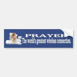 Gebets-weltbeste drahtlose Verbindung #2 Autoaufkleber
