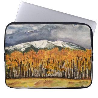 Gebirgsaspen-Baum-Aquarell-Kunst-Laptop-Hülse Laptop Sleeve