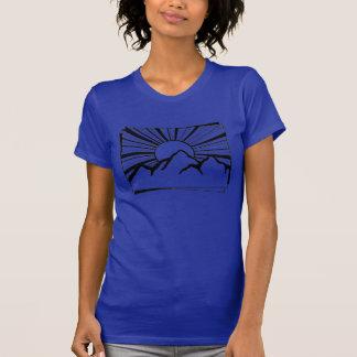 Gebirgsder logo-Frauen Indigo-Rodney Ridge der T - T-Shirt