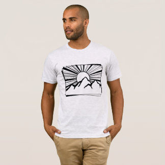 Gebirgsder logo-Männer Aschen-Grau-Rodney Ridge T-Shirt