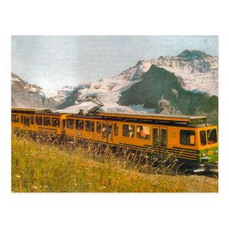 Gebirgseisenbahn, Jungfrau Region Postkarte