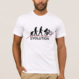 Gebirgsfahrrad-Evolutions-T - Shirt
