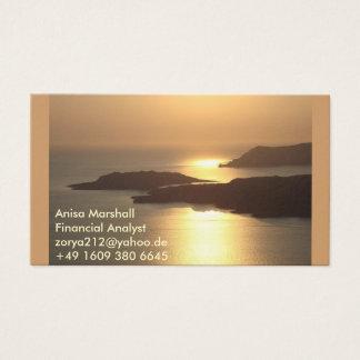 Gebirgsinsel Sonnenuntergang-Santorini Visitenkarte