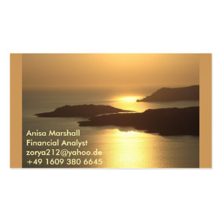 Gebirgsinsel Sonnenuntergang-Santorini Visitenkarten