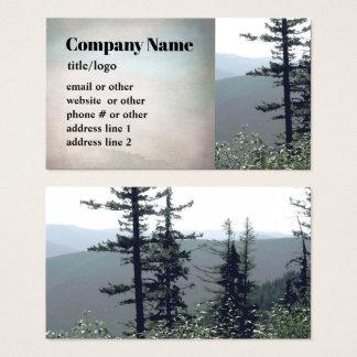 Gebirgskiefernbaum-Geschäftskarten-Fotokunst Visitenkarte