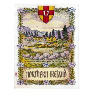 Gebirgspostkarte Nordirlands Mourne Postkarte