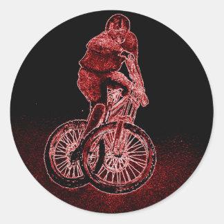 Gebirgsradfahren Runder Aufkleber
