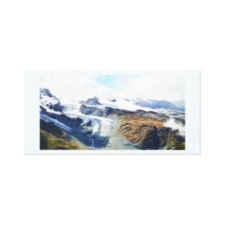 Gebirgsspitzen in den Schweizer Alpen Leinwanddruck