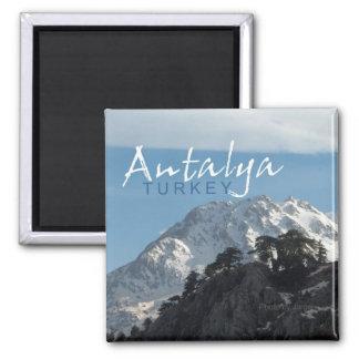 Gebirgsszenen-Kühlschrankmagnet Antalyas die Türke Quadratischer Magnet