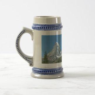 Gebirgsverrücktes Matterhornbier/Stein Bierkrug