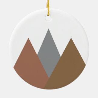 Gebirgsverzierung Rundes Keramik Ornament