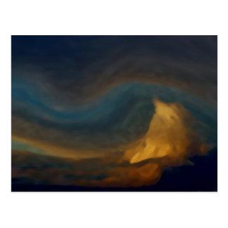 Gebirgswolken Postkarte