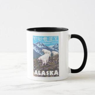 Gebirgsziegen-Szene - Curry, Alaska Tasse