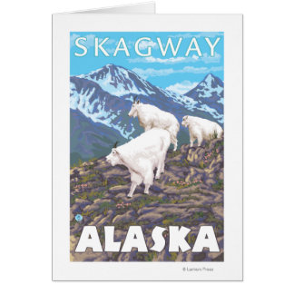 Gebirgsziegen-Szene - Skagway, Alaska Karte