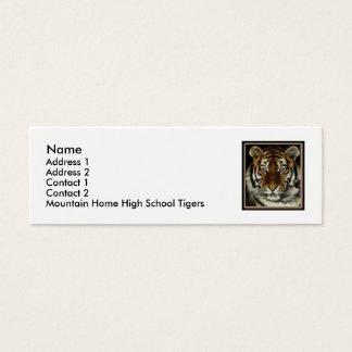 GebirgsZuhause-Tiger-Kontakt-Karte Mini Visitenkarte