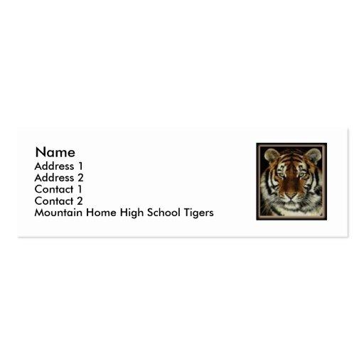 GebirgsZuhause-Tiger-Kontakt-Karte Visitenkarten Vorlagen