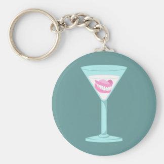 Gebiss-falsche Zähne Martini Schlüsselanhänger