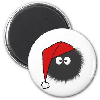Geblendetes Wanzen-Weihnachten Runder Magnet 5,7 Cm