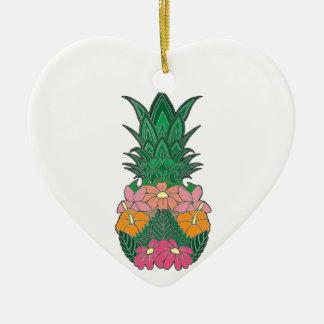 Geblühte Ananas Keramik Ornament