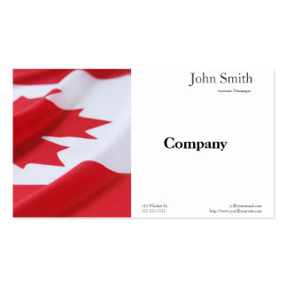 gebogene Kanada-Flaggen-Visitenkarte Visitenkarten