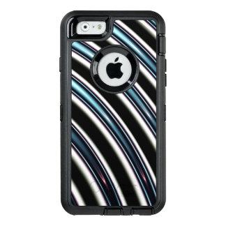 Gebogene Linien nah oben von einem Fraktal OtterBox iPhone 6/6s Hülle