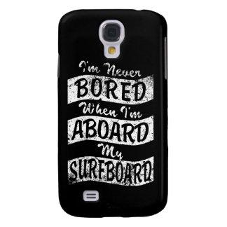 GEBOHRT nie AN BORD meines SURFBRETTES (weiß) Galaxy S4 Hülle