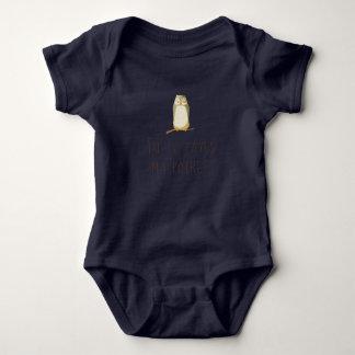 Gebohrte Eule Baby Strampler