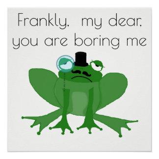 Gebohrter vornehmer Frosch Poster