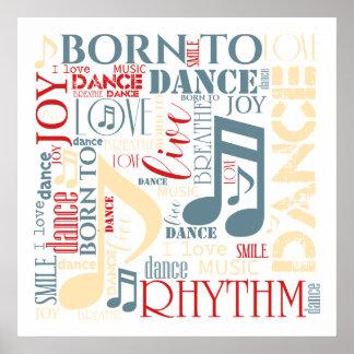 Geboren, blaues ID277 zu tanzen Poster