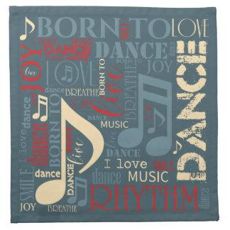 Geboren, blaues ID277 zu tanzen Stoffserviette