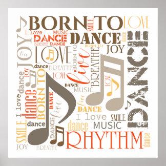 Geboren, Brown ID277 zu tanzen Poster