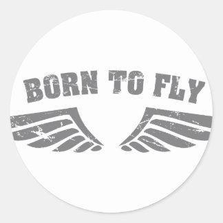 Geboren, Flügel zu fliegen Runde Sticker
