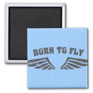 Geboren, Flügel zu fliegen Kühlschrankmagnet